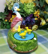 Schmid Beatrix Potter Jemima Puddleduck and Babies rotating My Favorite Things