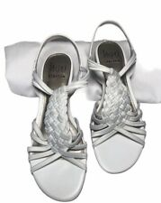 Impo Stretch Women's Open Toe Casual Strap Sandals White Shoes Size 7