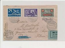 LM74422 Switzerland 1924 to France airmail good cover used