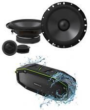"""Pair ALPINE S-S65C 240 Watt 6.5"""" Car Component Speakers + Bluetooth Speaker"""