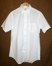 NWT Men's Brooks Brother Regent White Seer Sucker Short Sleeve Shirt Medium