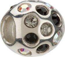 Auth. Chamilia Ster .925 Silver Bead JB-35F NWT Black Disco w/Swarovski Crystals