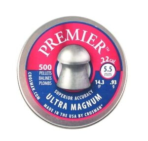 Crosman Domed .22 / 5.5mm Ultra Magnum Domed Pellets - Full Tin
