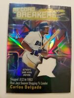 2003 Topps Chrome Refractor Carlos Delgado Record Breakers Blue Jays   C413