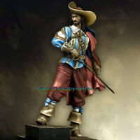 Unassembled  75mm French musketeer Figure Model Unpainted Garage Kits Statue NEW