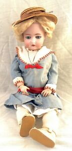 Antique Sleepy Eye Girl Doll, Bisque/Ball Joint Com Simon Halbig Germany 22-1/2""