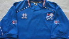 Iceland Football Shirt Small Mens Blue Iceland Shirt Retro 2009-2010