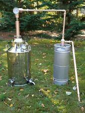 Copper Whiskey still with 13 gallon SS Mash pot & 5 gallon thumper Moonshine