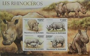 Rhinoceros African fauna Burundi s/s Sc.836 MNH #BUR11207b  IMPERF