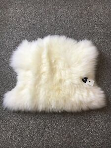 Sheepskin Rug Motorcycle Seat Pad Half Sheepskin Plush Ivory White *SALE*