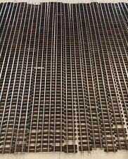 "Gargraves 37"" Straight Flexible Wood & Metal S Scale 2 Rail Train Track Lot X 22"