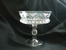 Vintage Compote - Thumbprint and Etched Design