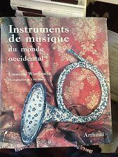Instruments de musique du monde occidental / emanuel Winternitz ed Arthaud