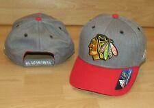 Adidas Chicago Blackhawks Authentic NHL Headwear Adjustable Hat Cap Men's