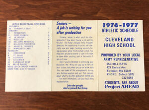 Only 1 on ebay RARE 1976 Cleveland Minnesota High School Athletic Schedule