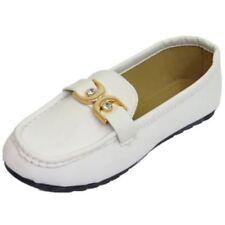 Zapatos planos de mujer mocasines blanco