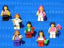 Lot of 7 Pretty Genuine Lego Female Minifigures Women Girls & Accessories - ALL