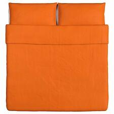 New IKEA DVALA King Duvet Cover And 2 Pillowcase Set, ORANGE 100% Cotton