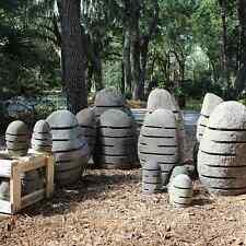 Pair Landscape Lighting River Stone Boulders Garden Walkway Lantern 24″ Tall