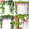 Artificial Wisteria Vine Garland Plants Foliage Trailing Flower Hanging Decor