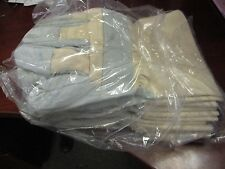 New Cowhide 1vt34o Leather Palm Gloves With Safety Cuff Qty 6 Pairs