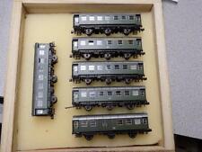 N Scale Roco DB 2nd Class 3- Passenger Car Set W/ 3 Add-Ons In Custom Wood Case