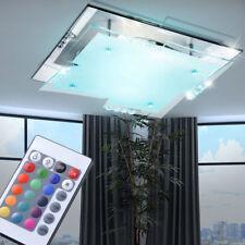 RGB LED  Decken Leuchte eckig sparsam Farbwechsler dimmbar Kristall Dekor Büro