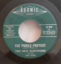 New Survivors featuring Tony Teebo Kanwick 147 THE PICKLE PROTEST  45 SHIPS FREE