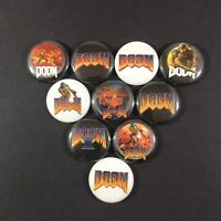 "Doom 1"" Button Pin Lot from (1993) Classic Video Game"