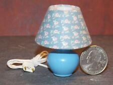 Dollhouse Miniature Lamp Blue Floral 1:10 scale K77 Bodo Hennig Dollys Gallery