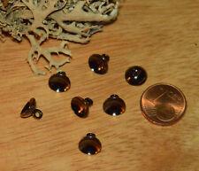 10 Kunststoffknöpfe Button Hemden Blusen Knopf schwarz shank schwarz transparent