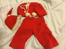 Doll Terri Lee 3 piece Red Velvet Snowsuit tagged 1950s