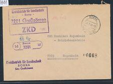 27311) país RDA post espátula-stpl 14 bornas/7201, zkd carta 1966