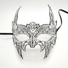 Party Mask Black Metal Devil Styled Mask with Rhinestone