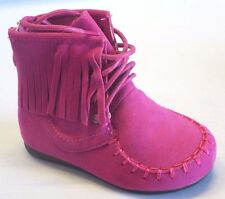 Girl Suede Fringe Ankle Booties (candice21ka) TODDLER Moccasin Black Tan Fuchsia
