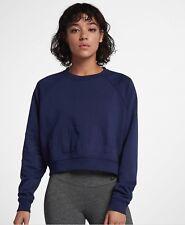 Women's Nike Sportswear Long Sleeve Crew neck Training Sweater 889201-429 Navy S