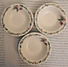"Pfaltzgraff Jamberry Pattern Soup Cereal Bowl 7 1/2"" Set of 3 Made in USA"
