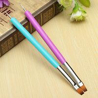 1x2-Ways Nails Art Pen Paint Dotting Acrylic UV Gel Polish Brush Liners Tools LJ
