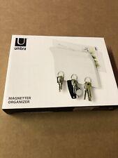 Umbra Magnetter Key Panel & Letter Holder Wall-Mount Organizer White New