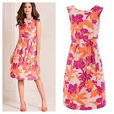 Kaleidoscope Plus Size 22 Simply Fab Vibrant Floral Jacquard Occasion DRESS £85