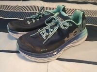 HOKA One One Women's Bondi 5 Medieval Blue Radiance 1016605 Shoes 7.5 D (Wide)