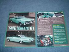 "1961 Chevy Bubble Top Bel Air Resto-Rod Article ""Mint (Green) '61"" Impala"