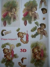 3D A4 Christmas Paper Tole Angelic Cherubs FREE GIFT