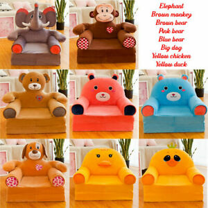 Childrens Kids Comfy Soft Chair Toddlers Armchair Seat Bedroom Lounger Sofa