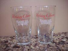 Set of (2) Holiday Cheers from Samuel Adams Tulip Pint Glasses