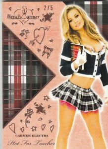 2020 BENCHWARMER HOT FOR TEACHER CARMEN ELECTRA BASE CARD /5