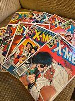 Uncanny X-Men 170 172 174 180 181 182 184 185 186 187 Bronze Age Marvel lot run