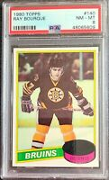 1980 Topps Ray Bourque Rookie RC PSA 8! Beautiful Ray Rc!