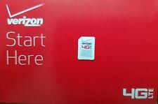 VERIZON NANO 4FF SIM Card *L* CDMA 4GLTE • NEW Genuine OEM • Prepaid or Contract