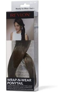 "REVLON 18"" Ready To Wear Ponytail Synthetic MEDIUM BROWN PUT HAIR IN PONYTAIL"